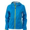 Ladies Outdoor Jacket - aqua/acid yellow