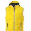 Mens Maritime Vest - sun yellow/white