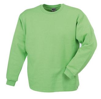 Round Sweat Open Hem - lime green