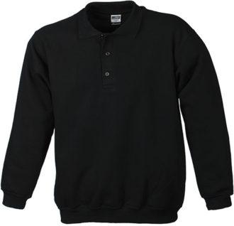 Polo-Sweat Heavy - black