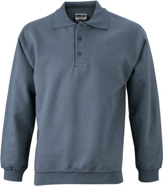 Polo-Sweat Heavy - carbon