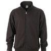 Workwear Sweat Jacket  - black