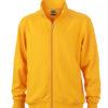 Workwear Sweat Jacket - gold yellow