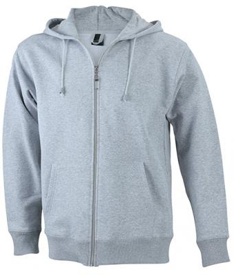Mens Hooded Jacket - grey heather