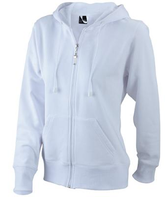 Ladies Hooded Jacket - white