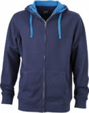 Mens Lifestyle Zip Hoody - navy/cobalt
