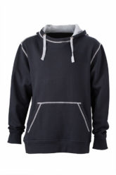 Mens Lifestyle Hoody - black/grey heather