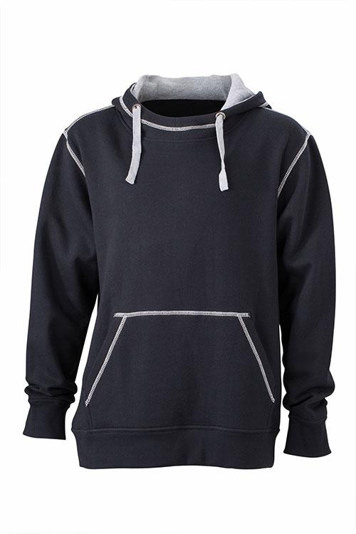 Mens Lifestyle Hoody - black/grey heather