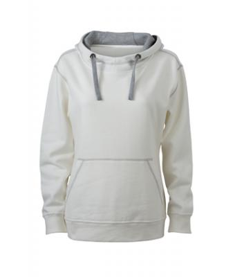 Ladies Lifestyle Hoody - offwhite/grey heather