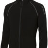 Drop Shot Mikrofleece Jacke - schwarz/anthrazit