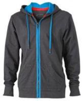 Mens Urban Sweat Hoody - graphite/azur