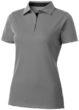 Hacker Damen-Poloshirt - grau/schwarz