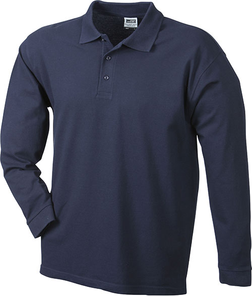 Werbeartikel Poloshirt Langarm Heavy - navy