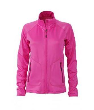 Ladies Basic Fleece Jacket - pink/fuchsia
