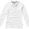 Point Damen Poloshirt langärmlig Slazenger - weiß