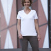 Ladies Stretch V T James & Nicholson - Shirt mit5% Elasthan