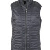 Ladies Lightweight Vest James & Nicholson - black/silver