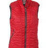 Ladies Lightweight Vest James & Nicholson - indian red/silver