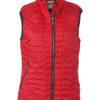 Ladies Lightweight Vest James & Nicholson - indian red/silver