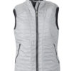 Ladies Lightweight Vest James & Nicholson - silver/black