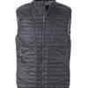 Mens Lightweight Vest James & Nicholson - black/silver