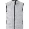 Mens Lightweight Vest James & Nicholson - silver/black