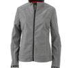 Ladies Softshell Jacket James & Nicholson - light melange