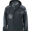 Craftsmen Softshell Jacket James & Nicholson - black/carbon
