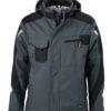 Craftsmen Softshell Jacket James & Nicholson - carbon/black