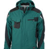 Craftsmen Softshell Jacket James & Nicholson - dark green/black