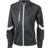 Ladies Bike Softshell Jacket James & Nicholson - schwarz
