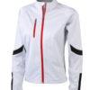 Ladies Bike Softshell Jacket James & Nicholson - weiß