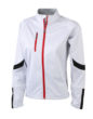 Ladies Bike Softshell Jacket James & Nicholson - weiß