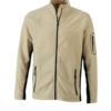 Mens Workwear Fleece Jacket James & Nicholson - stone/black