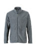 Mens Workwear Fleece Jacket James & Nicholson - black/carbon