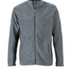 Mens Workwear Fleece Jacket James & Nicholson - carbon/black