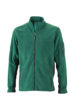 Mens Workwear Fleece Jacket James & Nicholson - dark green/black
