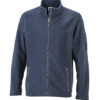 Mens Workwear Fleece Jacket James & Nicholson - navy/navy