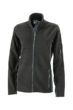 Ladies Workwear Fleece Jacket James & Nicholson - black/carbon