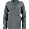Ladies Workwear Fleece Jacket James & Nicholson - carbon/black