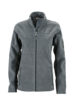 Ladies Workwear Fleece Jacket James & Nicholson - carbon/black