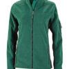 Ladies Workwear Fleece Jacket James & Nicholson - dark green/black