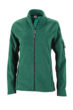 Ladies Workwear Fleece Jacket James & Nicholson - dark green/black