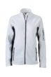 Ladies Workwear Fleece Jacket James & Nicholson - white/carbon