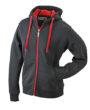Mens Doubleface Jacket - black/red