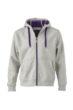 Mens Doubleface Jacket - grey heather/purple