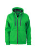 Ladies Doubleface Jacket James & Nicholson - fern green/graphite