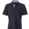 Mens Plain Polo James & Nicholson - navy/red navy white