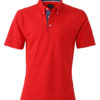 Mens Plain Polo James & Nicholson - red/dark denim