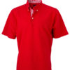 Mens Plain Polo James & Nicholson - red/red white